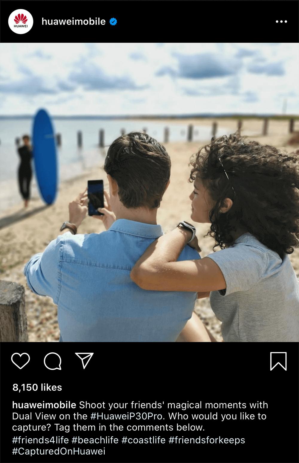 Huawei Instagram post