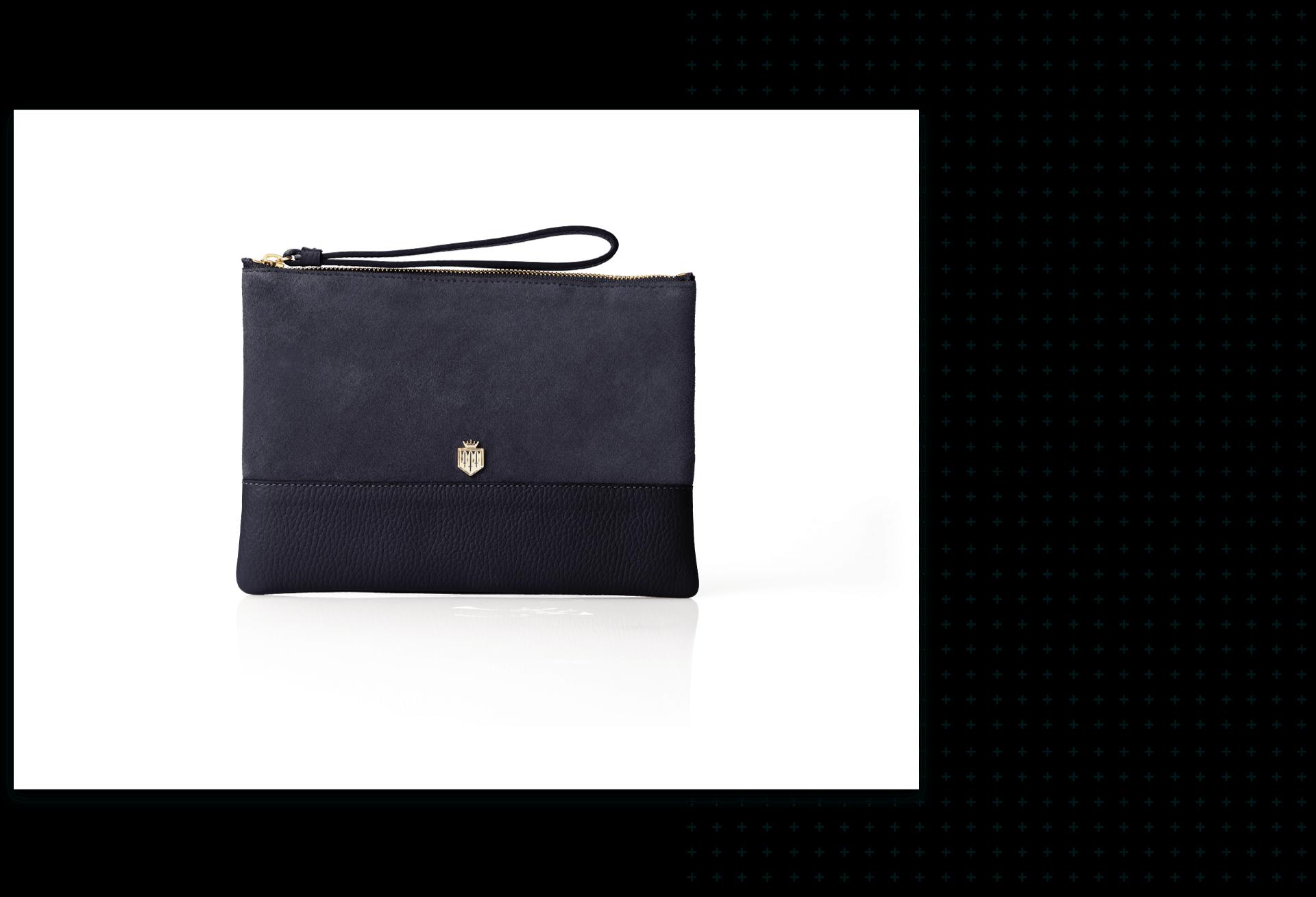 Rectangle shaped black purse