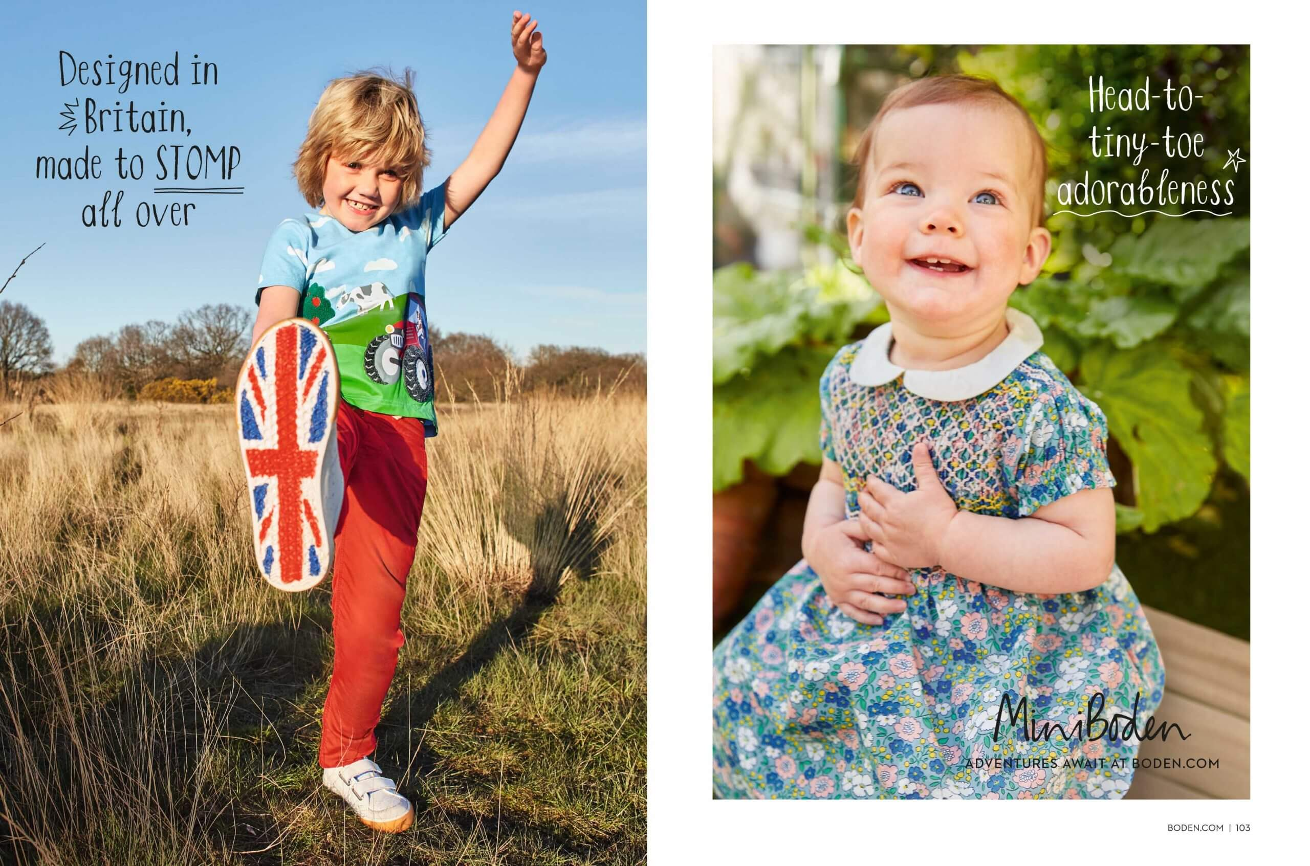 Two kids from Boden magazine