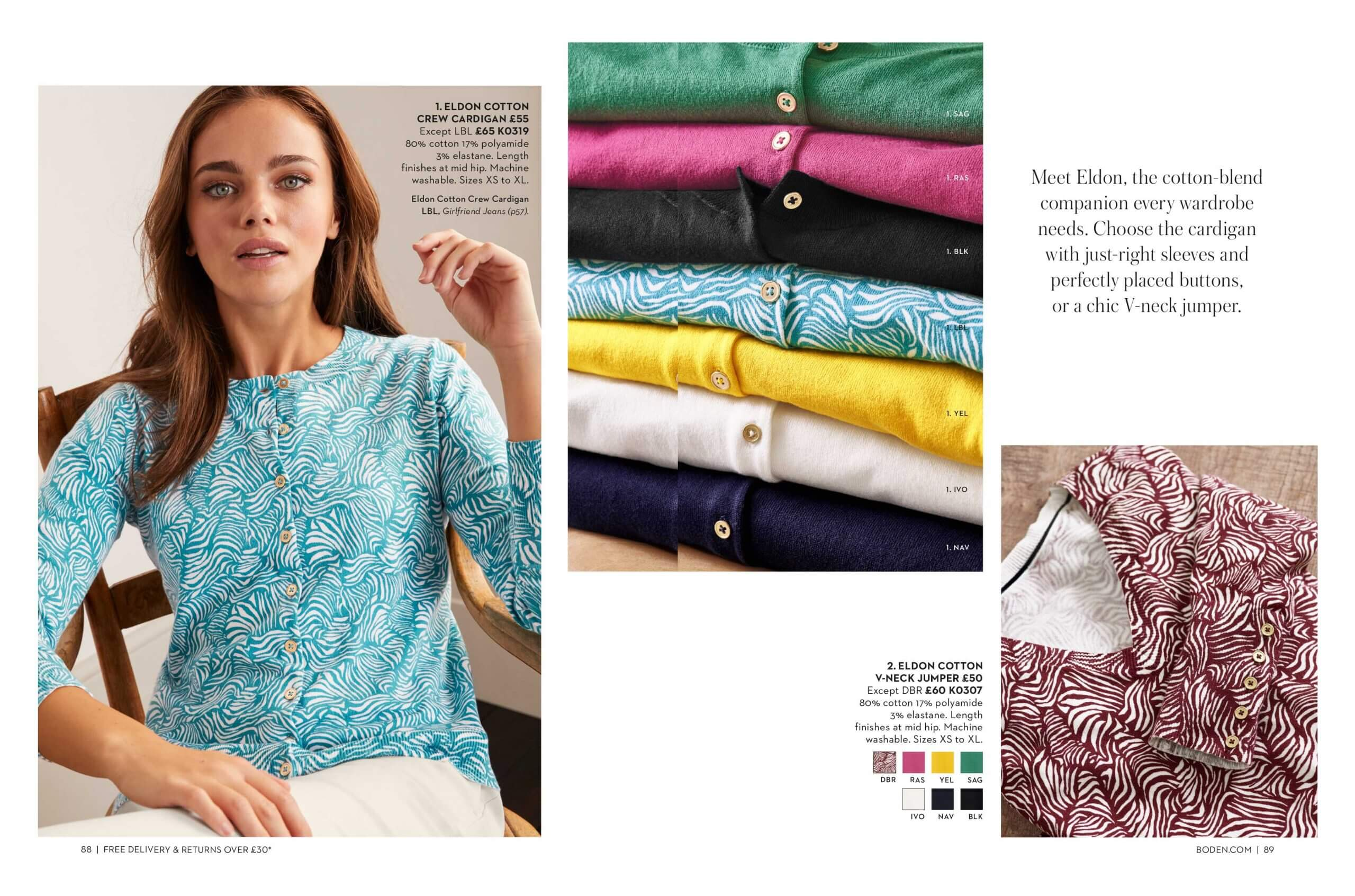 Inner pages of Boden magazine about clothes