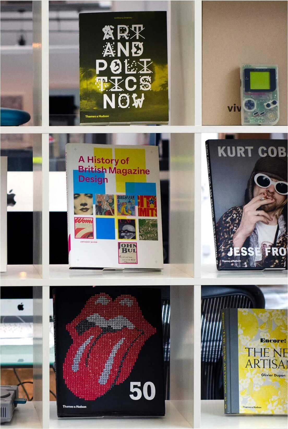 Bookshelves in Rhapsody office in London
