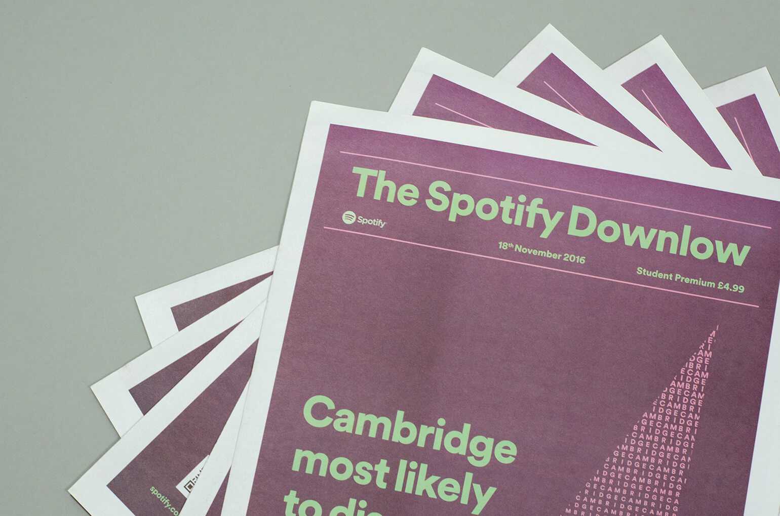 Materials from a Spotify campaign with personalised quotes