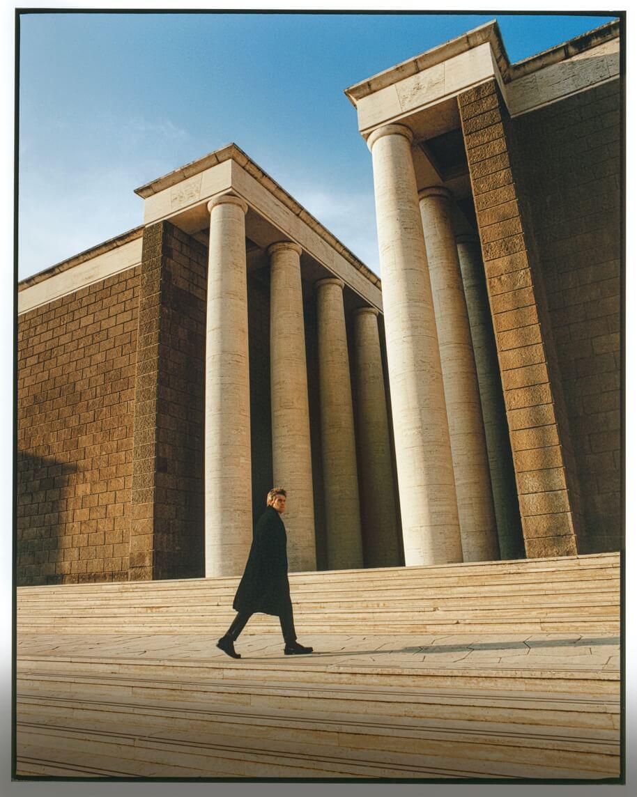 Willem Dafoe in a Net-A-Porter campaign