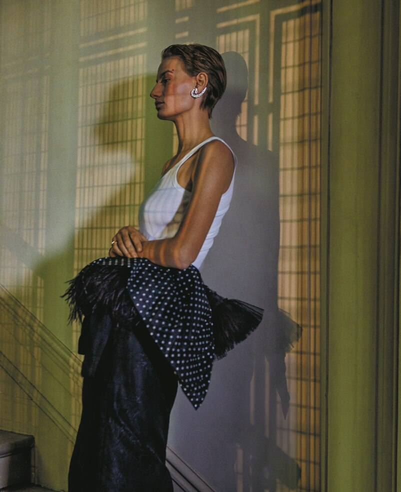 Photo presents women clothes from a Net-A-Porter campaign