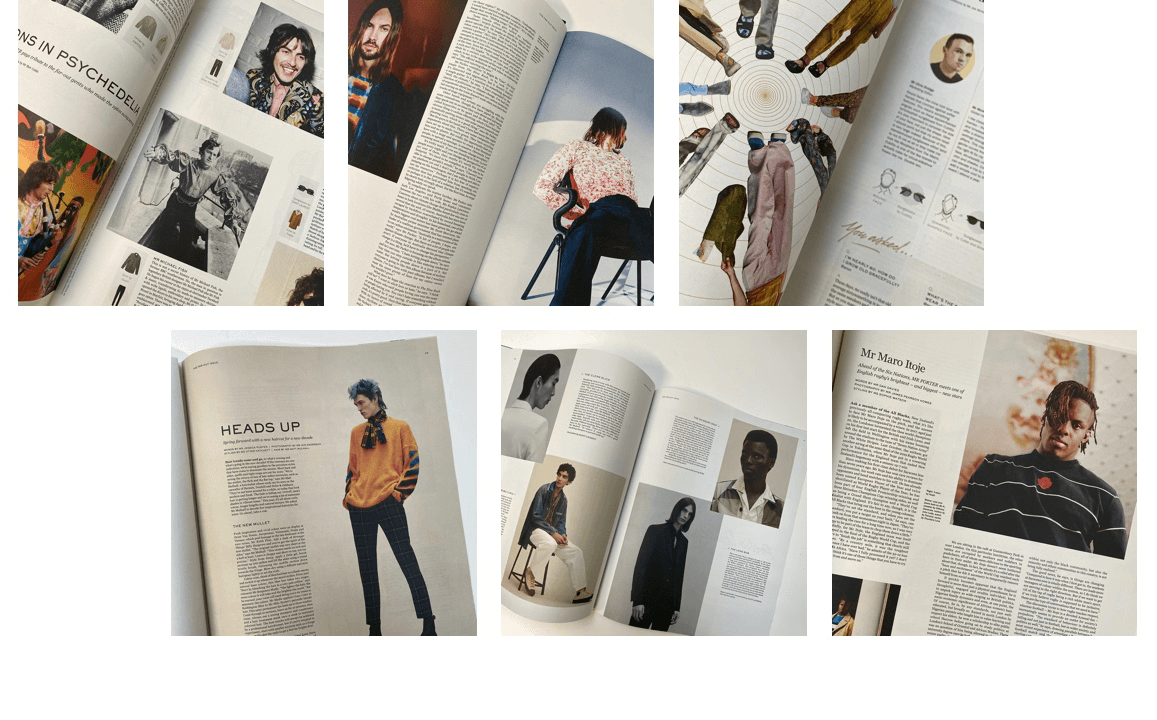 Pages from a Mr Porter Post magazine