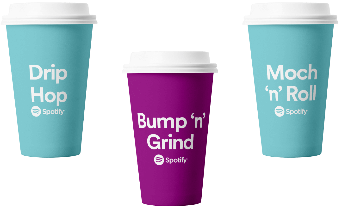 Personalised cups that were used in Spotify campaign