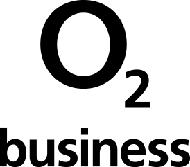Black logo of O2 Business