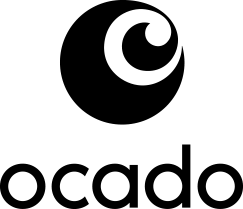 Black logo of Ocado