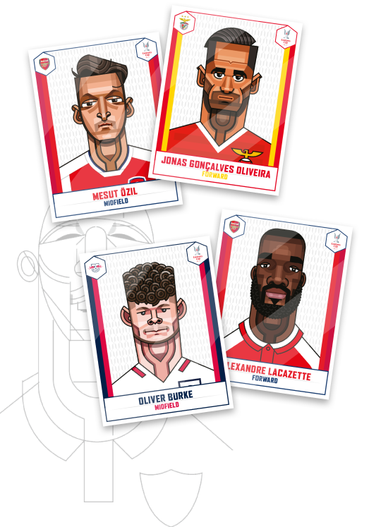 4 Arsenal Match Posters from 2013-2018 period